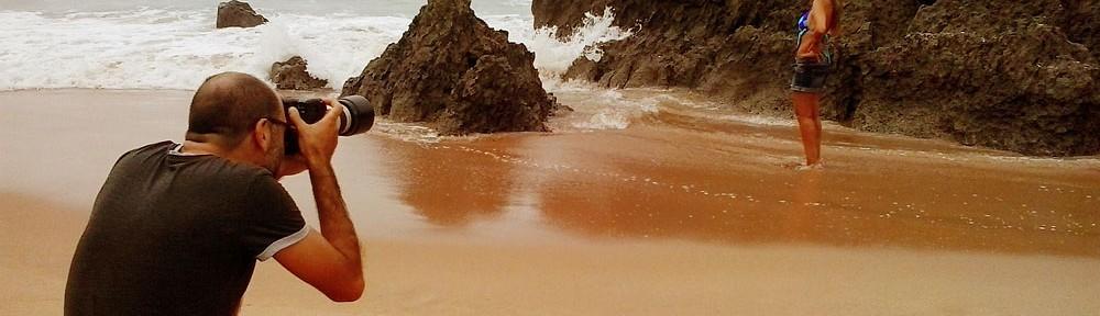 fazer book na praia
